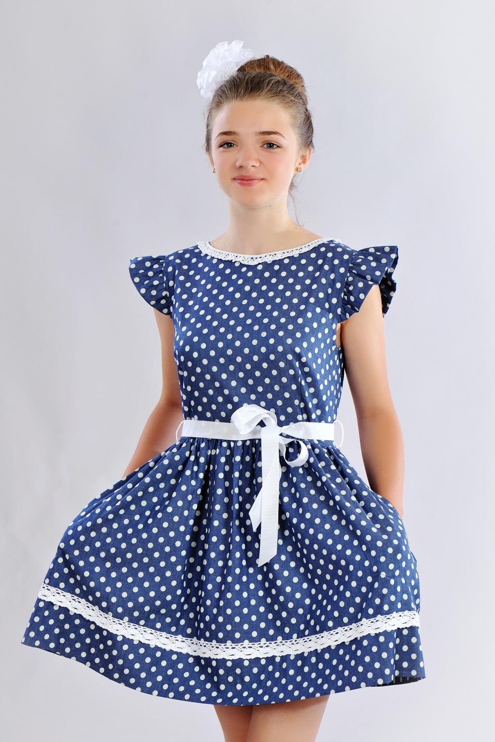 d1d17cacdd8a17 Літнє плаття з кишенями для дівчинки - купити в інтернет магазині «Діва»