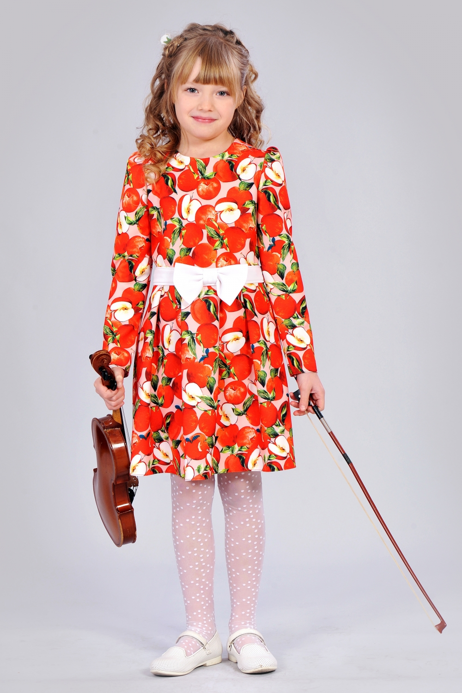 Святкове дитяче плаття з принтом