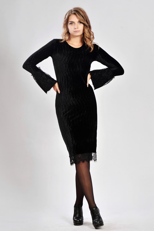 Чорне велюрове плаття - купити в інтернет магазині «Діва» 3c89061e40a79