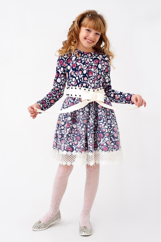Дитяче плаття з атласним поясом
