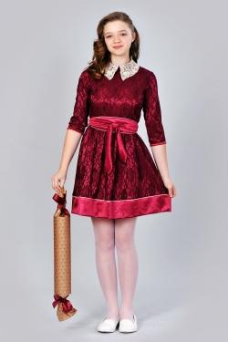 Плаття з коміром для дівчинки-підлітка