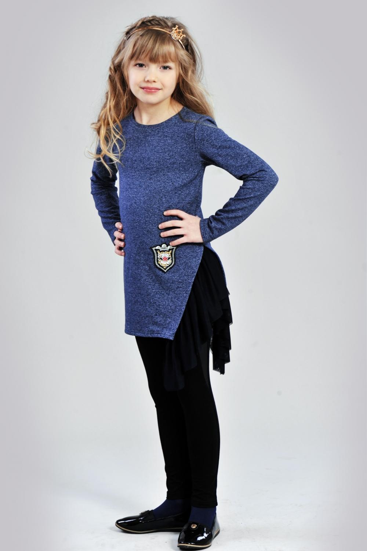 Синя туніка з фатином для дівчинки - купити в інтернет магазині «Діва» 5c5f8c6c86d43