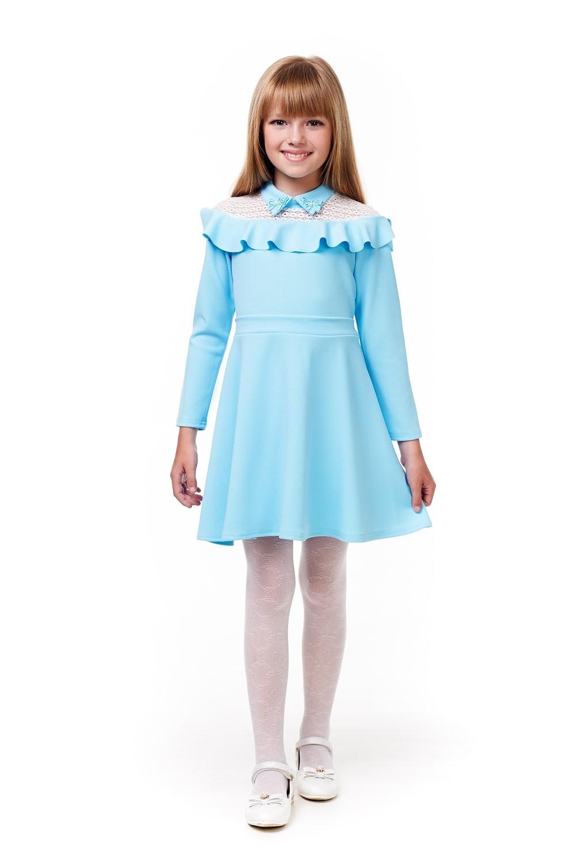 Голубе плаття для дівчинки