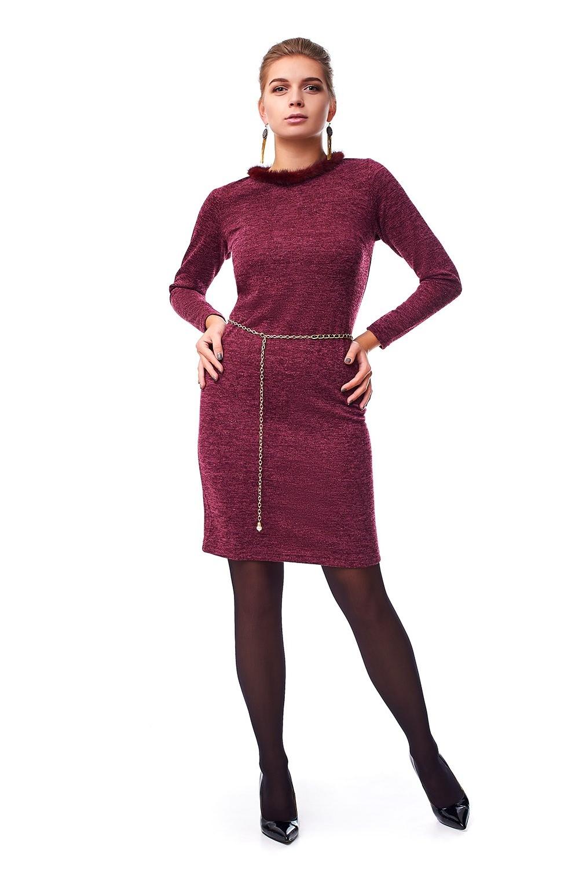 Жіноче плаття з натуральним хутром