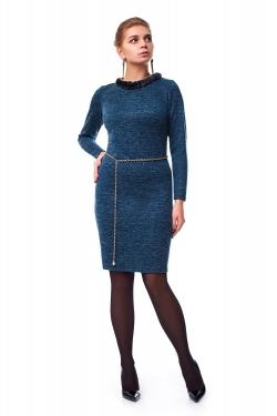 Модне жіноче плаття з хутром