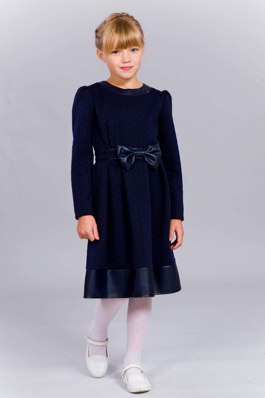 Темно-синє плаття для дівчинки