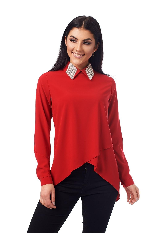 Елегантна блузка червоного кольору