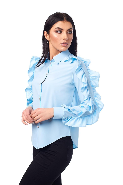 Молодіжна блузка блакитного кольору