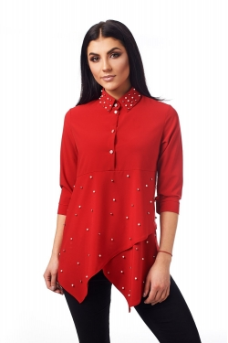 Оригінальна блузка з асиметричним низом