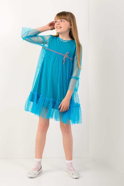 Бірюзове плаття для дівчинки