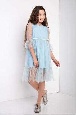 Голубе підліткове плаття