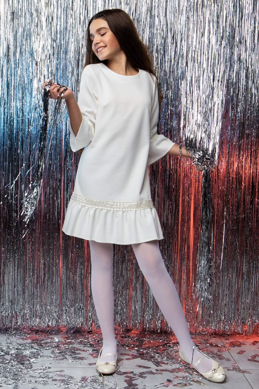 Ніжне підліткове плаття з перлами