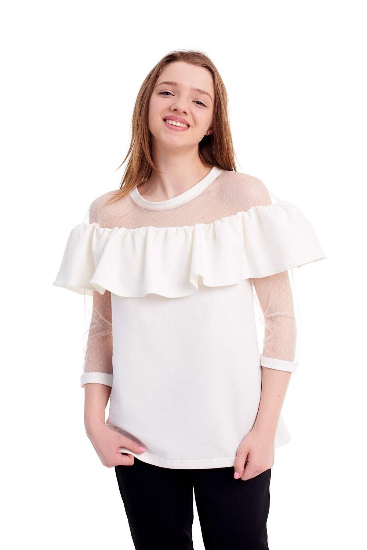 Молодіжна блузка з воланом
