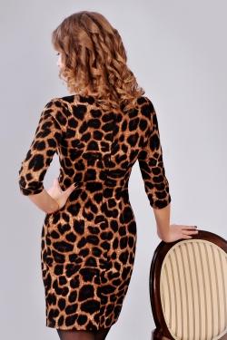 Тигрове плаття з блискавкою на грудях